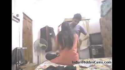 Real indian college couple amateur homemade sex - indianhiddencams.com